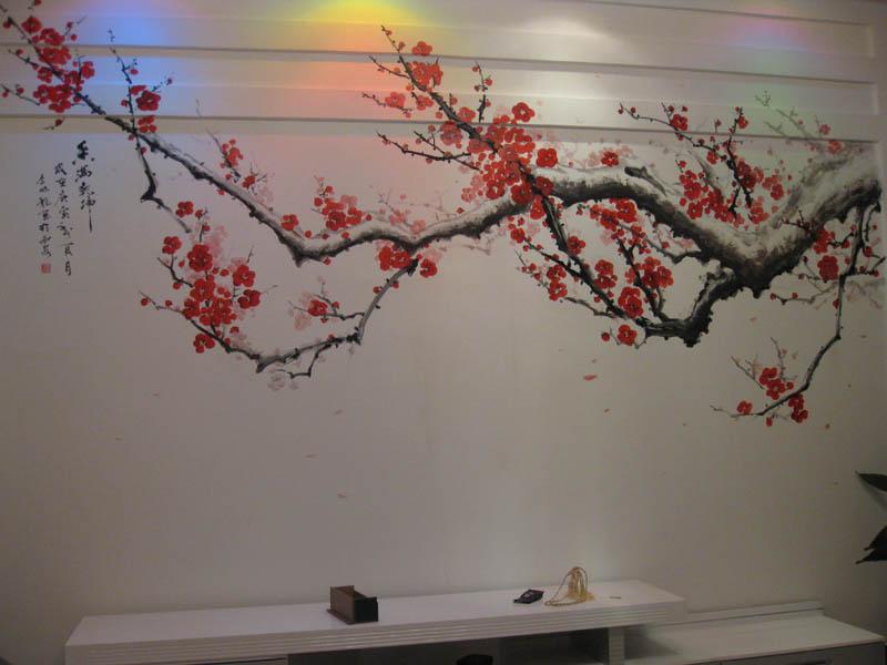 客厅背景墙壁画选择技巧