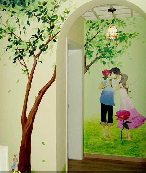 墙绘具有很强的独特性