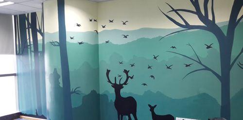 南昌涂鸦墙幼儿园,南昌户外墙体喷绘广告,南昌墙体广告喷绘