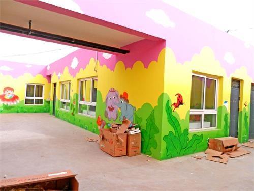 南昌幼儿园墙体绘画,南昌古建筑手绘,南昌手绘古建筑,南昌墙体彩绘